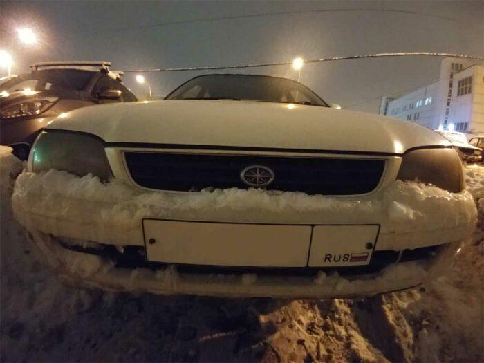 Состояние оптики видно на фото на фото, черные мутные стекла, Toyota Corona Копоть.