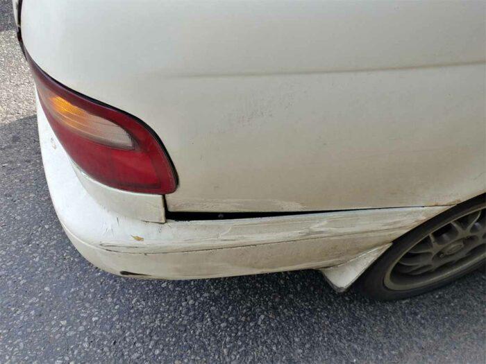 Повреждения, которые получила Toyota Corona ST195 после ДТП