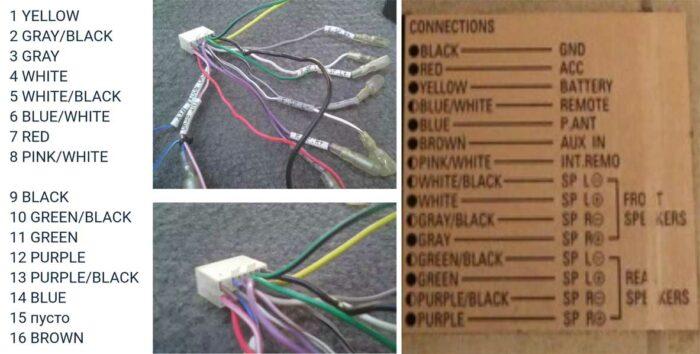 Распиновка фишки Denon DCT-R1 dct r1 1 разъёма обозначения проводов