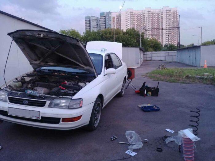 "Toyota Corona ST195-AEPEK A540H 3SFE 3S-FE Пружины Технорессор ""Технорессор"" тюнинг кастом тойтоа корона альтернатива Техно Рессор"