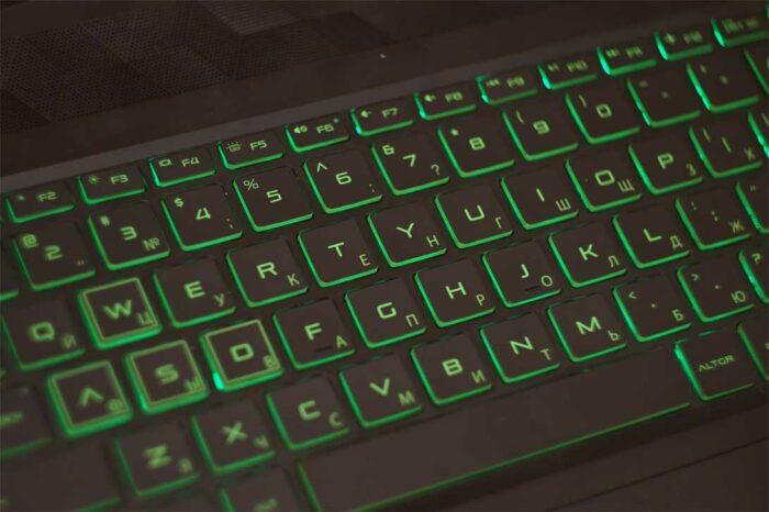 Подсветка клавиатуры изображена на фото