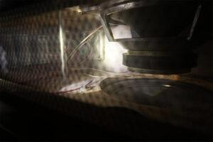Динамик ГДН 35-1-8 в тумбе с сабвуферами аудиосистемы Орбита 50АС-125