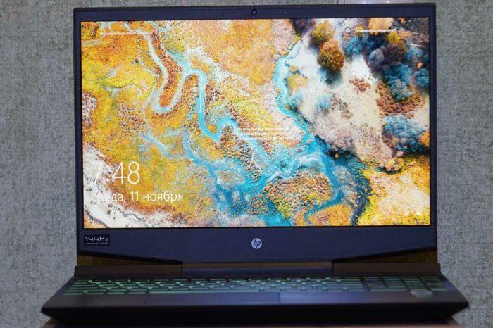 Экран IPS 144 Hz NTSC 45% Hp Pavilion Gaming 15-DK1043UR